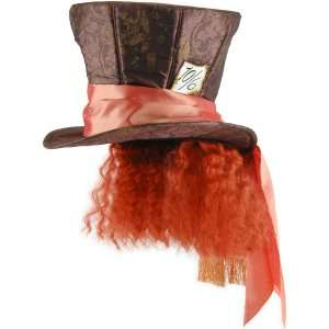 Alice In Wonderland Movie   Mad Hatter Hat with Hair Adult, 68250