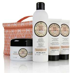 Perlier Shea Butter with Vanilla Extract 4 piece Gift Set