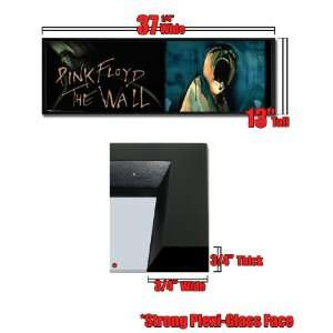 Framed Pink Floyd The Wall Logo 12x36 Poster 6429