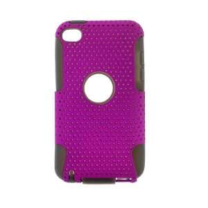 Apple iPod Touch 4 2 IN 1 HYBRID Hard SILICON CASE PURPLE
