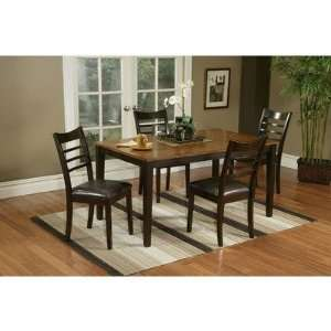 Two Tone Dinette Table Set with Bamboo Veneer Top