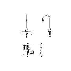 Delta 3001T3532A Single Hole Battery Operated Electronic Basin Faucet