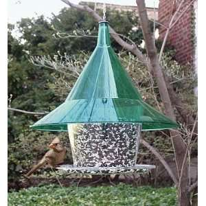 Sky Cafe Squirrel Proof Bird Feeder w/Green Dome  Kitchen