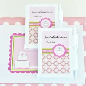 Personalized Notebook Favors   Pink Cake Health
