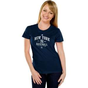 New York Yankees Womens Authentic Collection Navy Classic