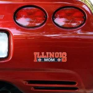 NCAA Illinois Fighting Illini Mom Car Decal Sports