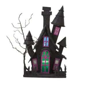 Lighted Haunted House Halloween Table Top Figurines