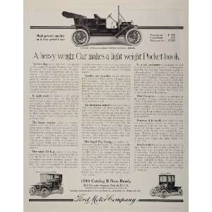 1910 Ad Antique Ford Taxicab Coupe Town Car Automobile