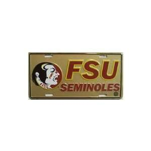 6x12) Florida State Seminoles NCAA Tin License Plate