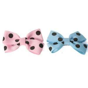 Polka Dot Ribbon Dog Hairbows  BLUE/BROWN  Kitchen