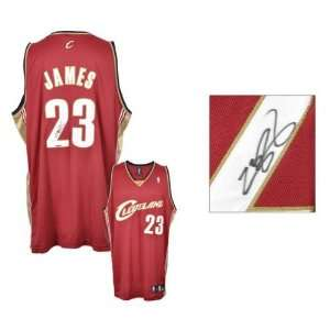LeBron James Autographed Jersey  Details Cleveland Cavaliers, Red