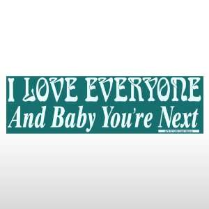 393 I Love Everyone   Bumper Sticker Toys & Games