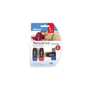 Memorex 1GB Rotodrive USB Flash Drive (3 Pack