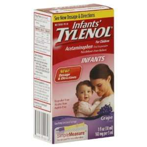Tylenol Pain Reliever/Fever Reducer, for Children, Grape Flavor 1 fl