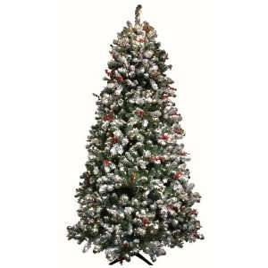 Good Tidings Tiger Pine Artificial Prelit Christmas Tree 4 1/2 Feet