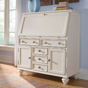 American Drew Camden White Drop Lid Work Station Furniture & Decor