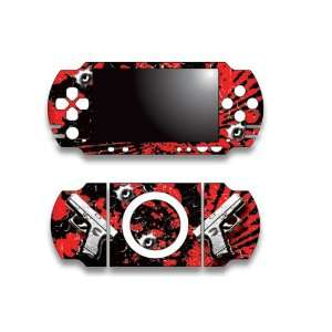 Sony PSP Slim Skin Decal Sticker   Glock Red Electronics