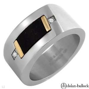 Mens Stainless Steel & Diamond Ring Size 11 Everything