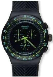 Swatch Irony Chrono Green in Dark Black Dial Mens watch
