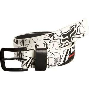 Fox Racing Victory Mens Casual Belt   White / Small
