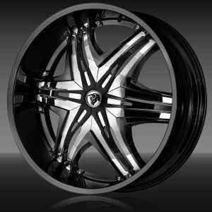 30 Diablo Wheels Elite Black Rims Escalade Caprice Navigator GMC