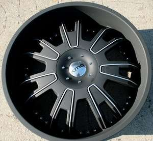 KMC SHILO 664 24 BLACK RIMS WHEELS IMPALA CAPRICE CHEVROLET