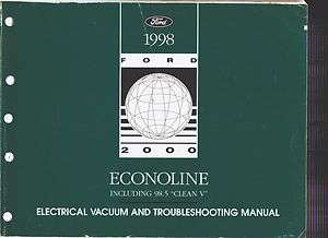 FORD ECONOLINE ELECTRICAL & VACUUM Service Manual EVTM WIRING DIAGRAMS