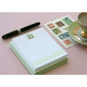 Letterpress Monogram Note Card Set B Health & Personal