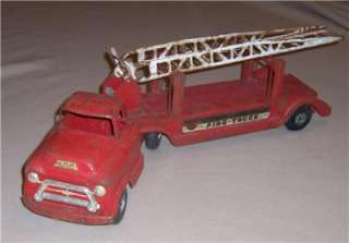 1950s Buddy L Extension Ladder Trailer FIRE TRUCK   GMC 550