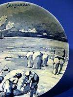 d959 Vintage Royal Delft Wall Plate Westraven AUGUST