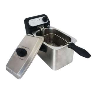 Rongsheng Mini 1.5/2.0L 1000W Electric Deep Fryer Fully Stainless
