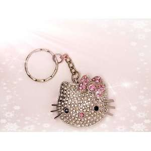 GB Hello Kitty Shape Crystal Jewelry USB Flash Memory Drive Keychain