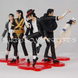 DOLL MICHAEL JACKSON FIGURES SET OF 5 POSE 4 FIGURINES