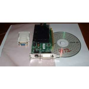 Low Profile Video Card + DVI VGA Adapter + Driver CD Electronics