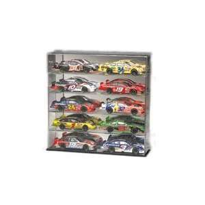 10 Diecast Car Display Case w/Mirrored Bottom & Back, 124
